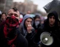 manifestación de estudiantes en BCN