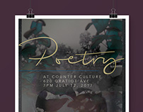 Poetry at Counter Culture Poster and Event Cover Photo