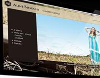 WebDesign de Site de Confecção Aline Bissochi