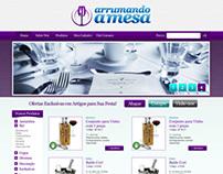 Webdesign de site Arrumando a Mesa
