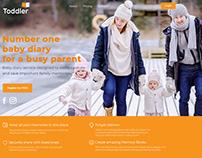 ToddlerDiary App's Landing Page