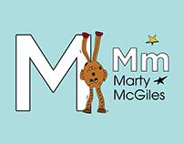 """Marty """"Miles"""" McGiles. Letter Print, Story."""