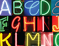Neon Sign Alphabet