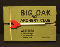 Big Oak Archery Club Mailer