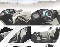 Dok-ing XD - concept city EV interior design