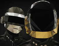 Daft Punk Polygon Pixel