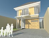Desain Rumah Tropis Moderen di Sidoarjo