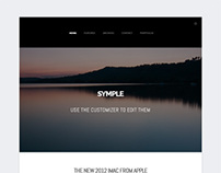 Symple, WordPress Simple Clean Blogging Theme