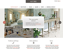 Corporate web site. Interior accesories
