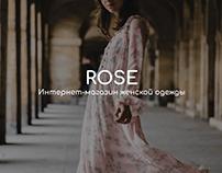 Fashion e-commerce ROSE women dress shop