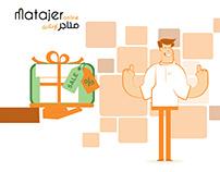 Matajer Online storyboard