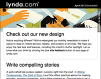 lynda.com: Email Newsletter