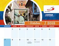 Calendario de escritorio San Pablo 2018