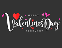Vector Hand Lettering of Valentines Day
