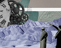 Time Threads   Digital Collage