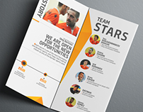 "Trifold brochure for beach soccer team ""Kristall"""