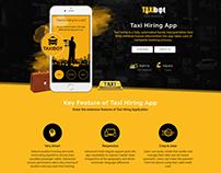 Taxi Hiring App Portfolio Web Page
