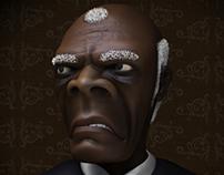 Samuel L. Jackson caricature (Django Unchained)