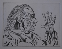 Etching of Louise Bourgeois