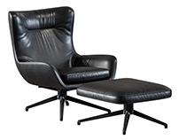 3D Furniture Modeling & Rendering Jensen Armchair