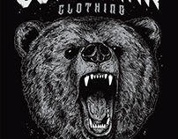 Bear. Dead man clothing.