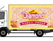 Diamond Bakery Truck Illustration