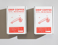 Manner Coffee Drip Coffee | Packaging Design