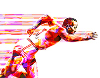 """""""CITIUS"""" (Faster) Jesse Owens Poster"""