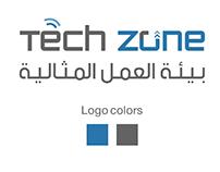 تصميم هوية لشركة تيك زون