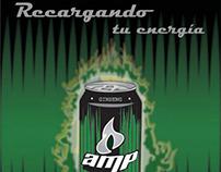 Campaña publicitaria para bebida energética