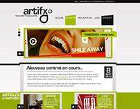 Artif-x old webdesign