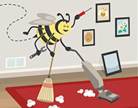 Busy as a Bee Illustration