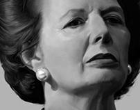 portrait of Margaret Hilda Thatcher