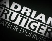 Adrian Frutiger - Typographic booklet