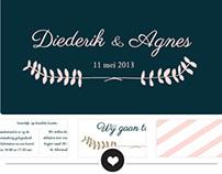 Trouwkaart Diederik & Agnes