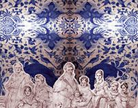 Textile Print: Ingresimo's Bird Garden