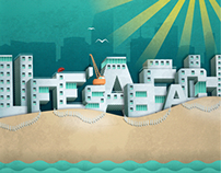 """""""Life's a Beach"""" Illustrated Poster Series"""