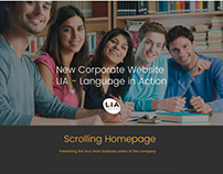 New Corporate Website for LIA - Language in Action