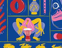 Illustration for festival Rosnička 2019