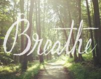 Breathe Hand-Lettering