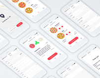 Pizza app. - food delivery in 7 steps