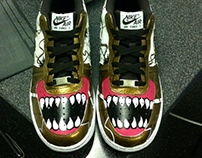 Customised Air force 1's