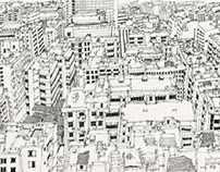 sketch the cityscape