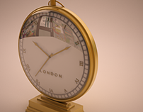 Product Render-A Clock