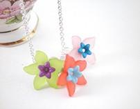 Bohemian Retro Spring Fairy Flower Bouquet Necklace
