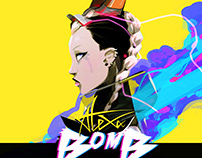 Kpop AleXa - Bomb Album Cover