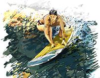 Surfer Gisele Gurgel