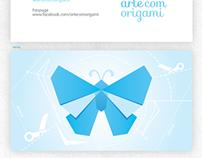 Arte com Origami - Cartão de Visitas
