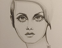 Twiggy Portrait