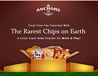 Anchor's Food Finds Email Marketing Super Bowl 2013